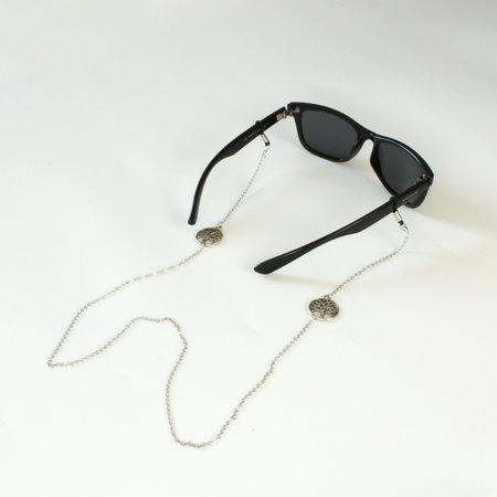 Brillenkoord hip Ibiza zilveren levensboom
