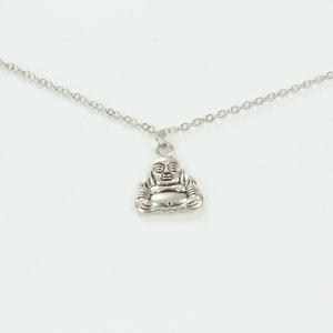 Brillenkoord hip Ibiza zilveren Boeddha
