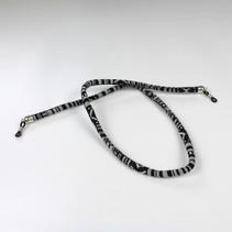 Brillenkoord hip Ibiza katoen geweven zwart