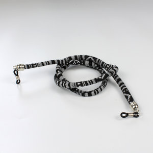 Janshop Brillenkoord hip Ibiza katoen geweven zwart