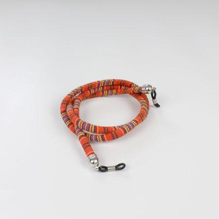 Brillenkoord hip Ibiza katoen geweven oranje