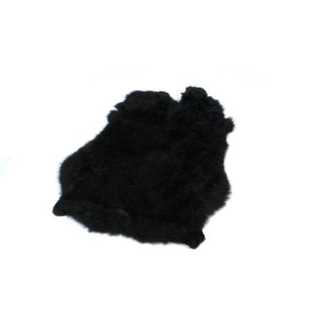 Konijnenvacht 60 x 35cm zwart geverfd