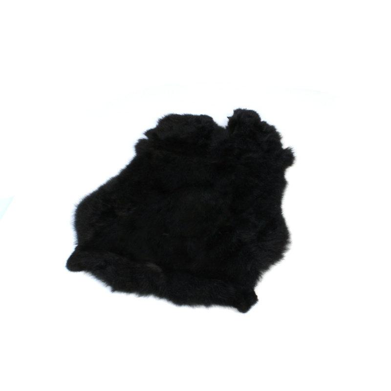 Janshop Konijnenvacht 60 x 35cm zwart geverfd