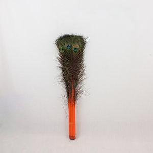 Janshop Pauwenveren 20 stuks - 70 tot 80 cm oranje geverfd