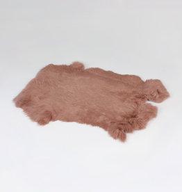 Janshop Konijnenvacht 40 x 30cm oud roze geverfd