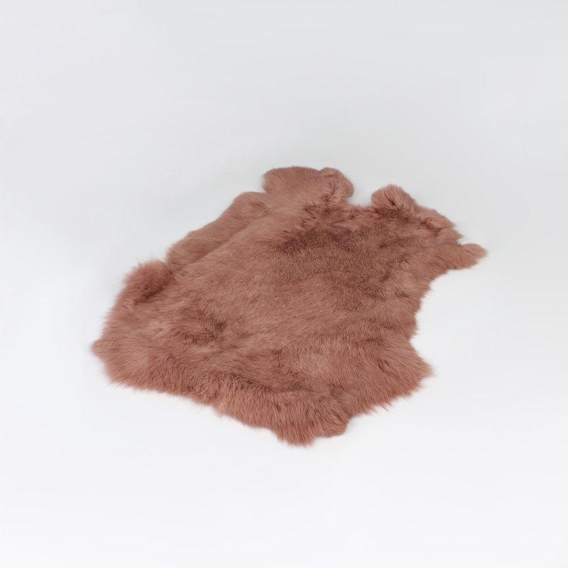 Konijnenvacht 40 x 30cm roze geverfd