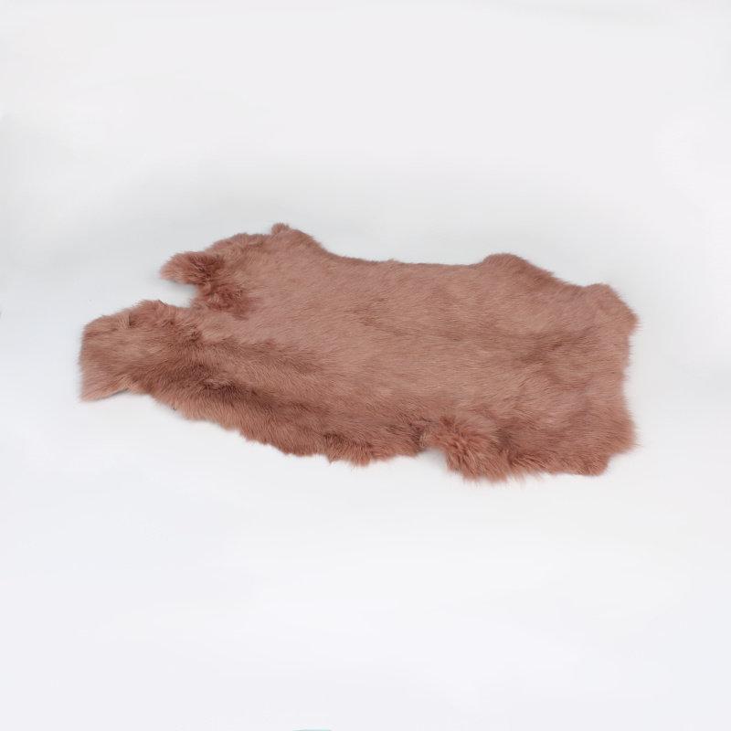 Janshop Konijnenvacht 45 x 32cm oud roze geverfd