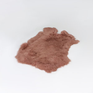 Janshop Konijnenvacht 60 x 35cm oud roze geverfd