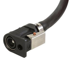 Benzineslang 8mm 3 meter met balg en 2 Yamaha connectoren