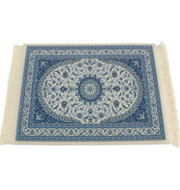 Horizon Blauw Vintage Muismat Perzisch Tapijt met Kwastjes