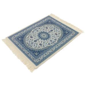 Janshop Horizon Blauw Vintage Muismat Perzisch Tapijt met Kwastjes