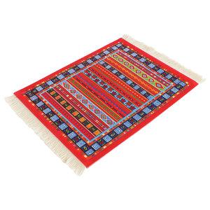 Tulp Rood Muismat Perzisch Tapijt met Kwastjes