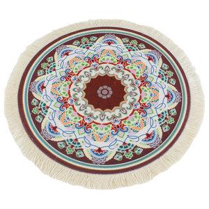 Mandala Soul Ronde Muismat met Kwastjes