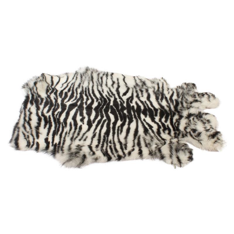 Konijnenvacht 45 x 32cm Zebra Print