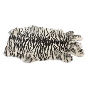 Konijnenvacht 60 x 35cm Zebra Print