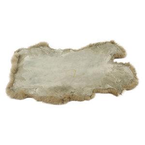 Konijnenvacht 40 x 30cm beige geverfd