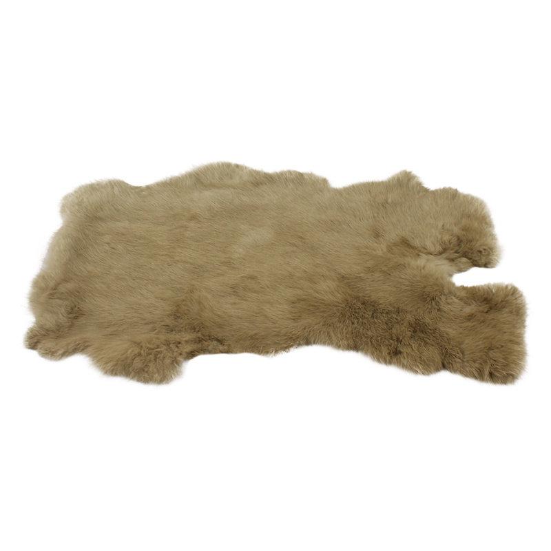 Konijnenvacht 45 x 32cm beige geverfd