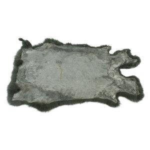 Janshop Konijnenvacht 60 x 35cm olijfgroen geverfd
