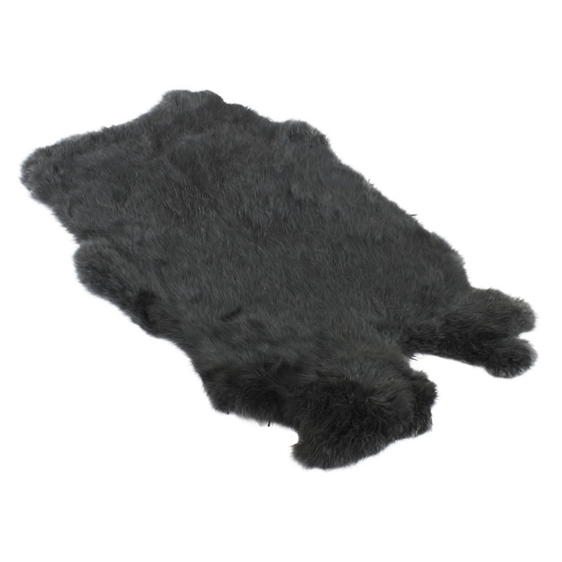 Konijnenvacht 40 x 30cm donkergrijs geverfd