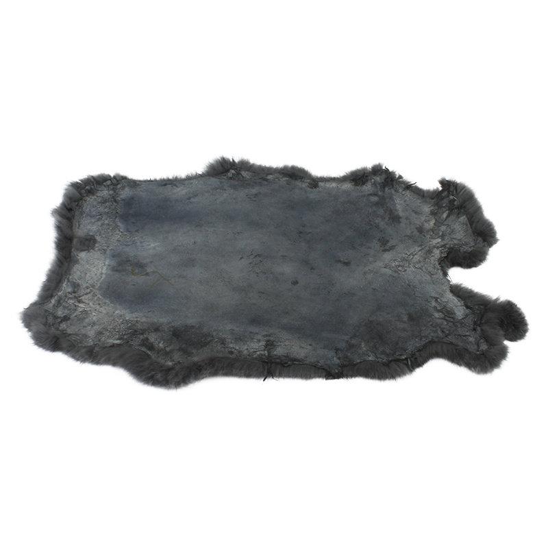 Janshop Konijnenvacht 45 x 32cm donkergrijs geverfd