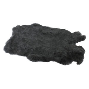 Konijnenvacht 60 x 35cm donkergrijs geverfd