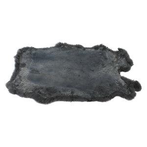 Janshop Konijnenvacht 60 x 35cm donkergrijs geverfd