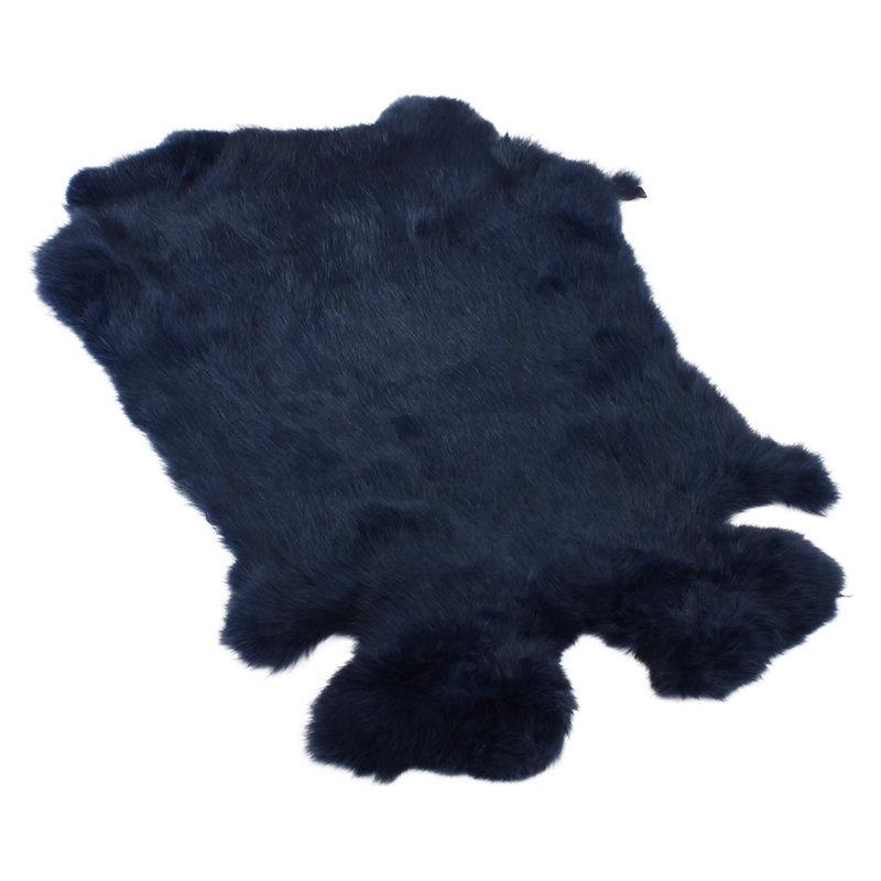Konijnenvacht 40 x 30cm marineblauw geverfd