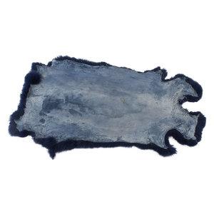 Konijnenvacht 60 x 35cm marineblauw geverfd
