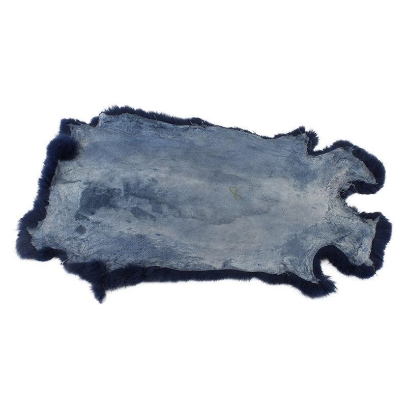 Janshop Konijnenvacht 60 x 35cm marineblauw geverfd