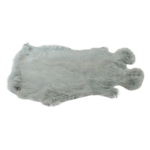 Konijnenvacht 40 x 30cm mintgroen geverfd