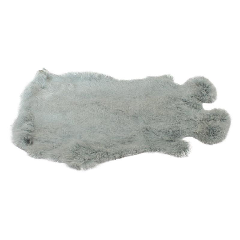 Konijnenvacht 60 x 35cm mintgroen geverfd