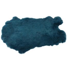 Konijnenvacht 40 x 30cm zeeblauw geverfd
