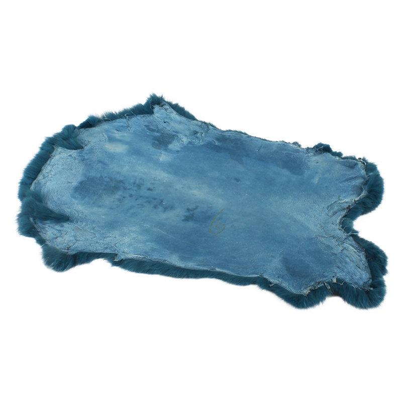 Janshop Konijnenvacht 40 x 30cm zeeblauw geverfd
