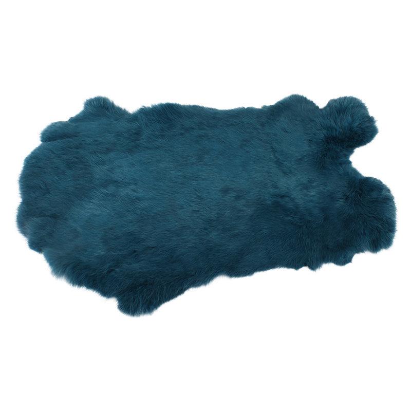 Konijnenvacht 45 x 32cm zeeblauw geverfd