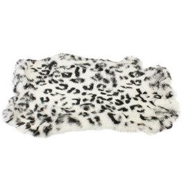 Konijnenvacht 40 x 30cm witte sneeuwluipaard