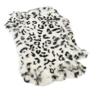Janshop Konijnenvacht 45 x 32cm witte sneeuwluipaard