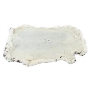 Konijnenvacht 45 x 32cm witte sneeuwluipaard