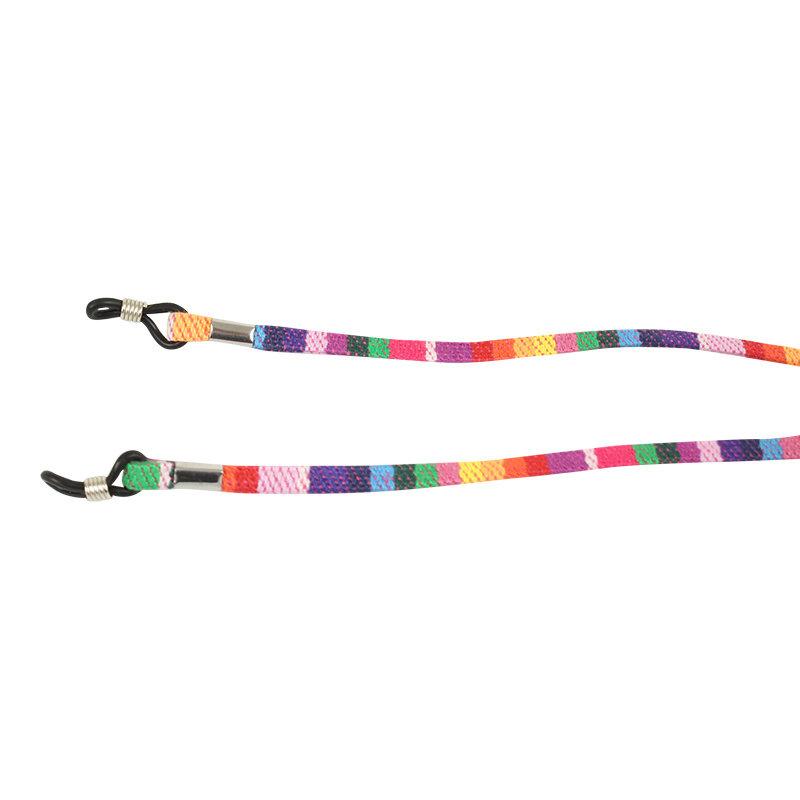 Brillenkoord hip Ibiza katoen rainbow plat