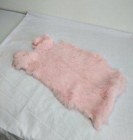 Konijnenvacht 40 x 30cm licht roze geverfd