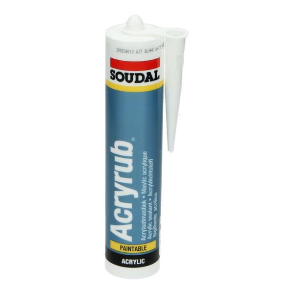 Soudal Acryrub Acrylaatkit Wit 310 ml
