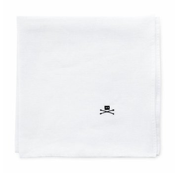 Trashness POCKET SQUARE WHITE