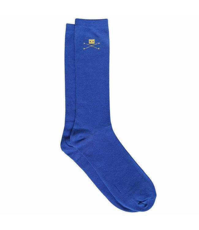 Trashness 2 PAIR BLUE COTTON SOCKS