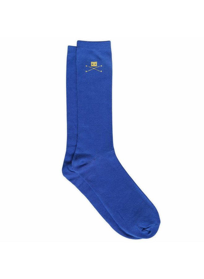 2 PAIR BLUE COTTON SOCKS