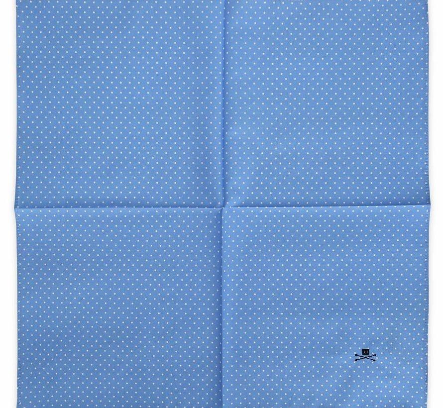 POCKET SQUARE POLKA BLUE