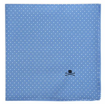 Trashness POCKET SQUARE POLKA BLUE