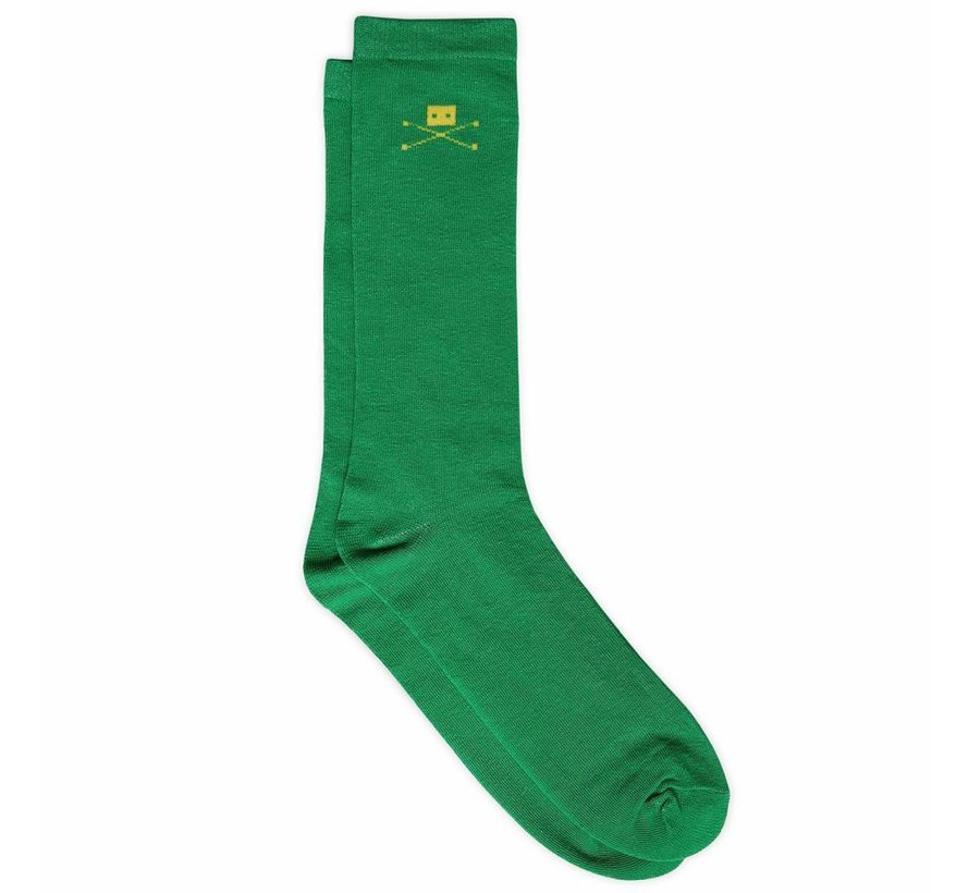 2 PAIR GREEN COTTON SOCKS