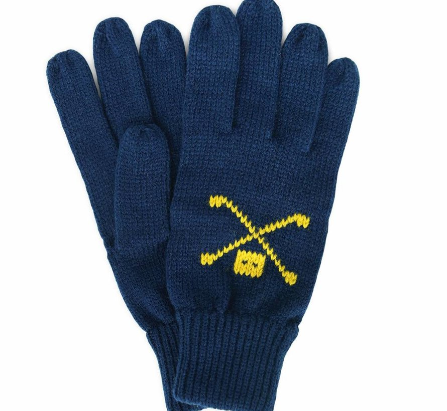 WOOL GLOVES NAVY