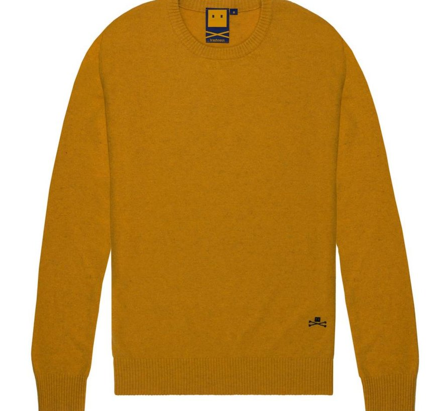 WOOL BLEND SWEATER GOLD