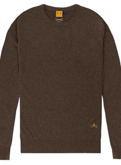 Trashness WOOL BLEND SWEATER BROWN