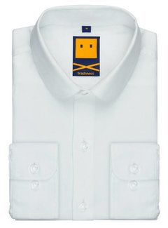 Trashness CLUB COLLAR WHITE SHIRT